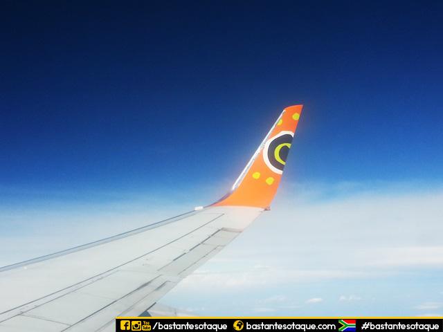Voando para Durban com a Mango Airlines