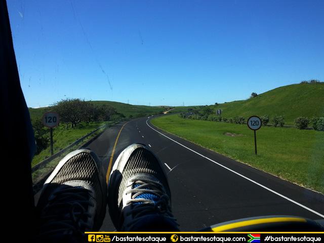 Viagem de ônibus pela África do Sul