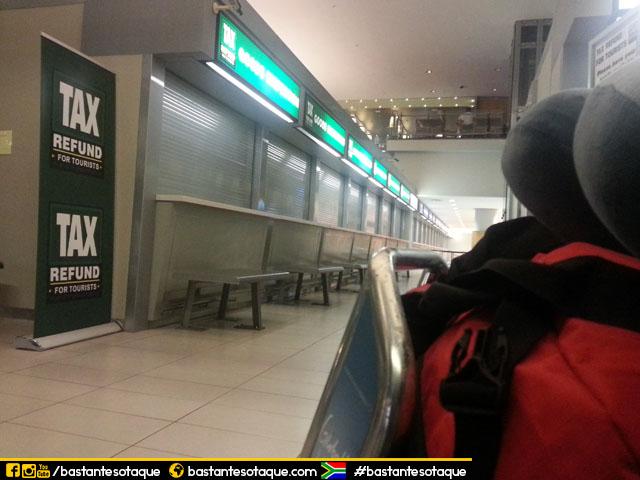 Informações sobre o reembolso das compras em Cape Town, África do Sul
