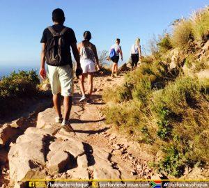 Trilha da montanha Lion's Head - Cidade do Cabo/Cape Town/África do Sul