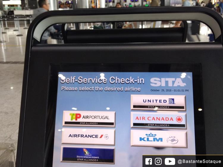Check-in da South African (SAA) - Aeroporto de Guarulhos