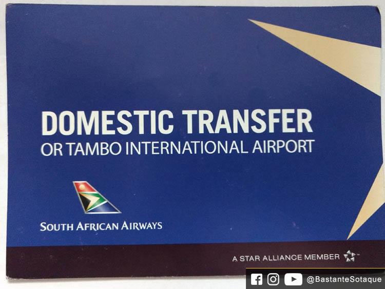 Conexão no aeroporto OR Tambo de Joanesburgo