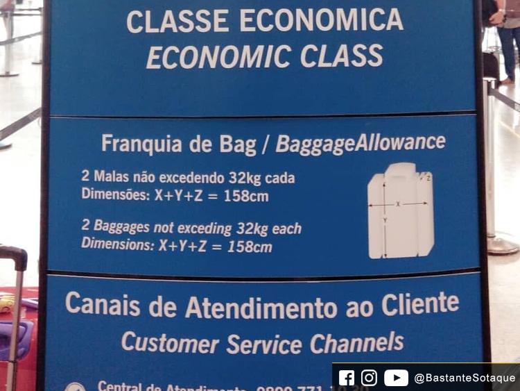 Regras bagagem da South African Airways (SAA)