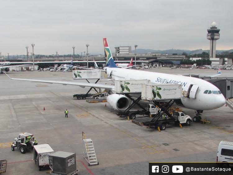 A330-200 da South African Airways (SAA) - Aeroporto de Guarulhos