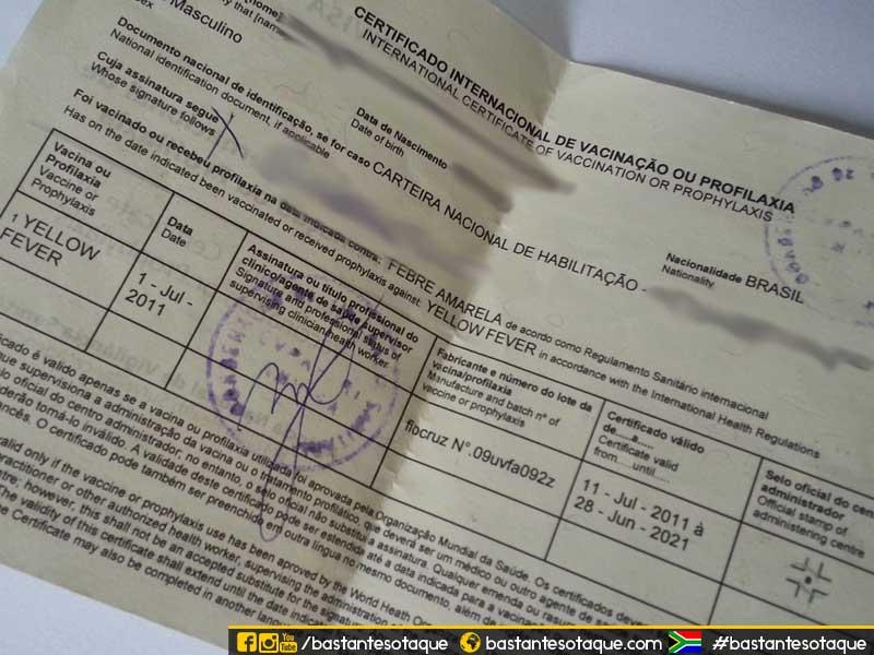 CIV - Certificado Internacional de Vacinação da Febre Amarela