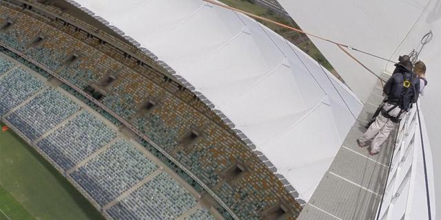 Salto no estádio de Durban - Swing Jump/Bungee - África do Sul