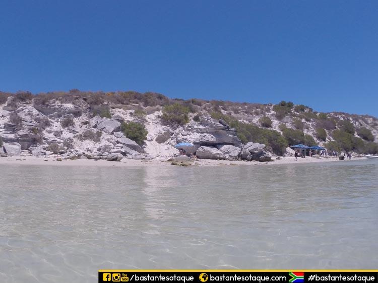 Praia de Kraalbaai - Langebaan, África do Sul