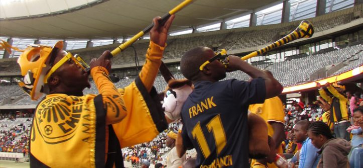 Jogo de futebol em Cape Town