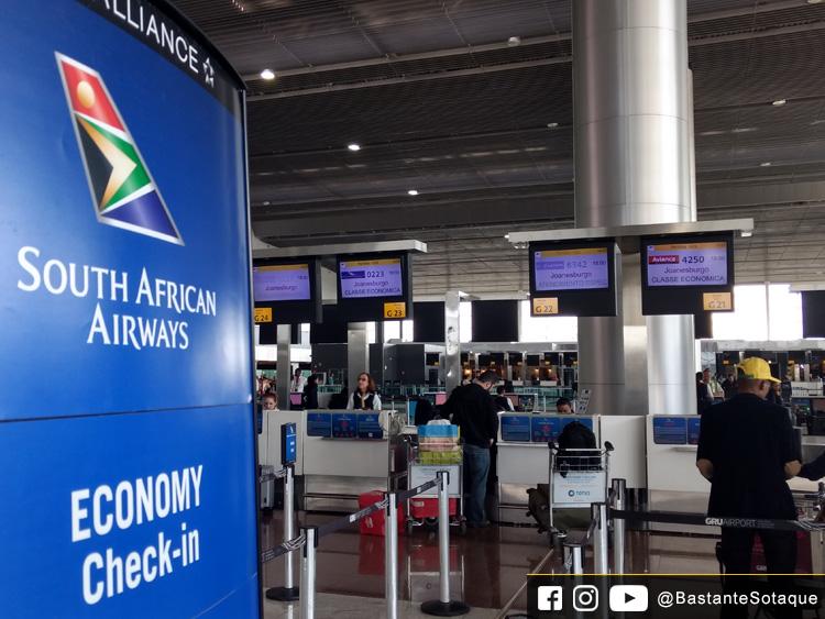 Check-in da SAA - Aeroporto de Guarulhos