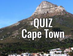 Quiz sobre a Cidade do Cabo