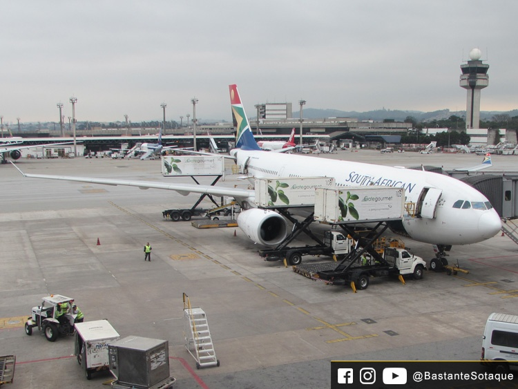 A330-200 da South African Airways (SAA) - Aeroporto de Guarulhos